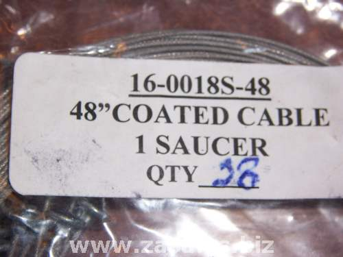 28 Sign Hanging cable 48 Long coated 1 saucer 16-0018S-48