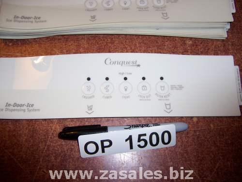 2318499T Refrigerator Door Push Button Panel Switch Overlay Whirlpool