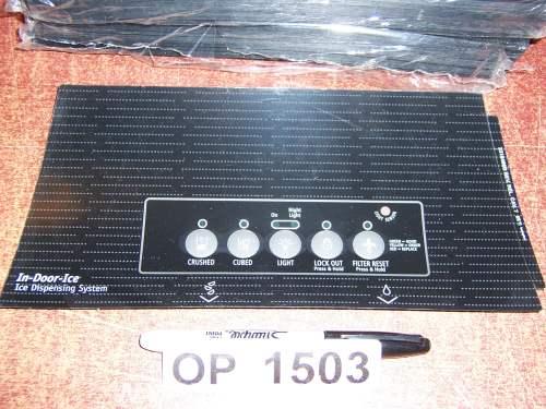 2318489B Refrigerator Door Push Button Panel Switch Overlay Whirlpool