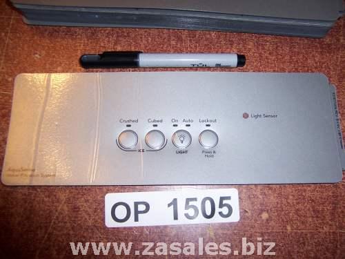 2318772US Refrigerator Door Push Button Panel Switch Overlay Whirlpool