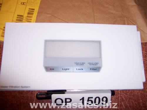 W10139874 Refrigerator Door Push Button Panel Switch Overlay Whirlpool