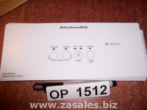 W10160499 Refrigerator Door Push Button Panel Switch Overlay Whirlpool