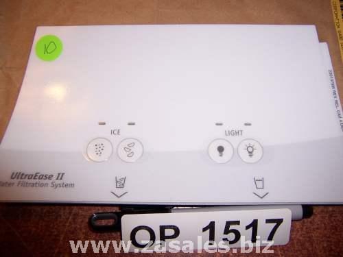 2301379W Refrigerator Door Push Button Panel Switch Overlay Whirlpool