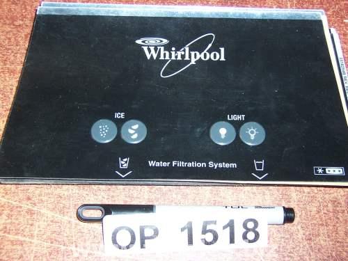 2318245B Refrigerator Door Push Button Panel Switch Overlay Whirlpool
