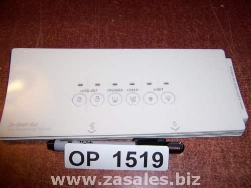 W10144391 Refrigerator Door Push Button Panel Switch Overlay Whirlpool