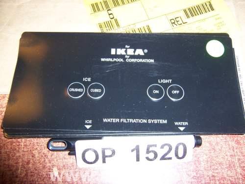 2303326B Refrigerator Door Push Button Panel Switch Overlay Whirlpool