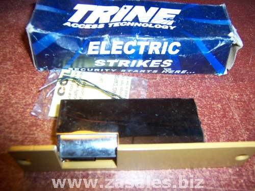Trine 001-8-16AC/4-6DC Electric Strike for Cylindrical Lock in Brass