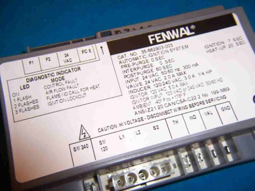 Pentair 460783  Fenwal Digital Ignition Pool Heater 35-662903-003