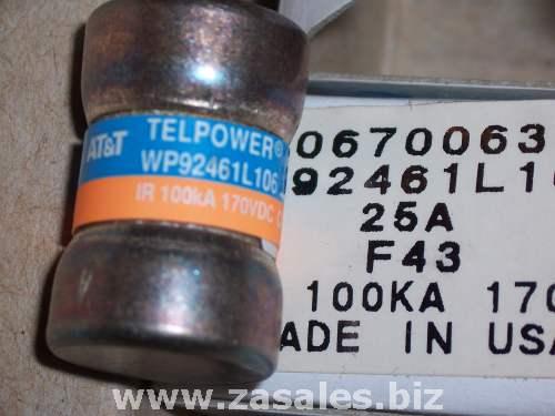 Cooper Bussmann AT&T 406700633 Telpower TPS‐25 Fuse 25A  WP92461L106