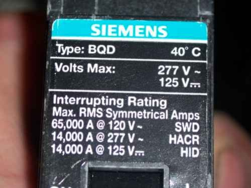 BQD120 - Siemens / ITE Bolt-On Circuit Breaker