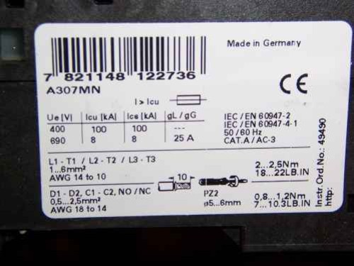 New C-H Manual Motor Protector Overload A307Mn 1.4-2 A