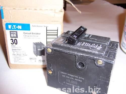 Eaton Cutler Hammer 30A 2Pole Circuit Breaker BR230 30 240V