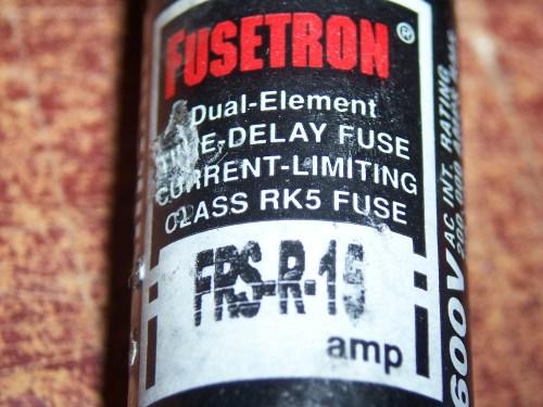 Cooper Bussmann FRS-R-15 Fuse, 15A, 600V, Time Delay