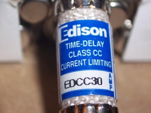 Edison EDCC30 30A 600V TD Class CC Low Peak Fuse