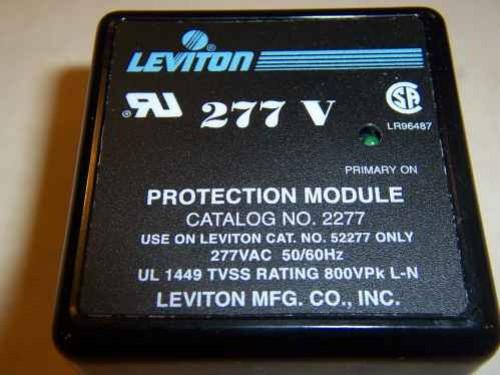 Leviton 2277 277 VAC, 50/60 Hz Max, Continuous Voltage 320 VAC, Transient Voltage Surge Suppression Module