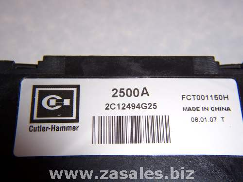 2c12494g25 2500 A CH Current Transformer  FCT115 Eaton 2500A