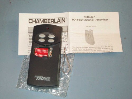 Liftmaster TC4 TriCode Four-Channel Garage Door and Gate Remote