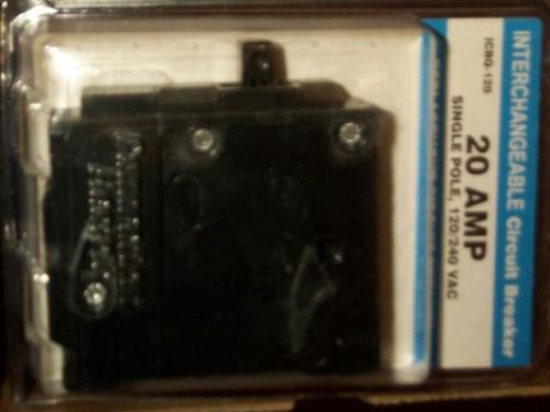 6 New Universal Fit Circuit Breaker 1P 20A Q-120