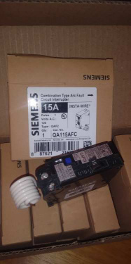 Siemens QA115AFC Arc Fault Circuit Breaker, 15 Amp