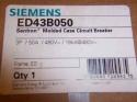 Siemens ED43B050 Circuit Breaker, 3Pole, 50A, ED, 480V, 18ka 1