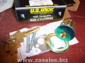Pair Us Lock Rim Cylinder Kw1 Keyway Brass Ka2 Keyed Alike US1565KW13