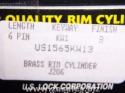 Pair Us Lock Rim Cylinder Kw1 Keyway Brass Ka2 Keyed Alike US1565KW13 2