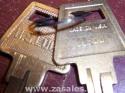 Pair Us Lock Rim Cylinder Kw1 Keyway Brass Ka2 Keyed Alike US1565KW13 3