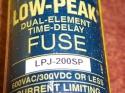 bussmann lpj-200sp fuse,200a,600vac/300dc,delay,ser lpj 1