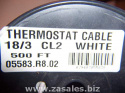 thermostat Wire 05583.R8.02 18/3 105C-WHT-2X500'/CT carol 3