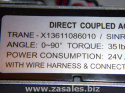 X13611086010 Trane Direct Coupled Actuator  SINRO: SRD02-0424-N6 5