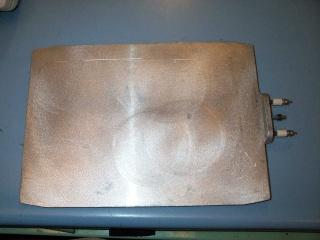 New 1000W 230V Aluminum Plate Heater Tempco 1