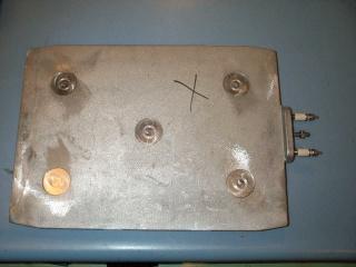 New 1000W 230V Aluminum Plate Heater Tempco 2